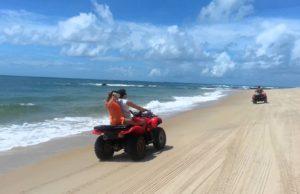 Passeio de quadricliclo em Alagoas